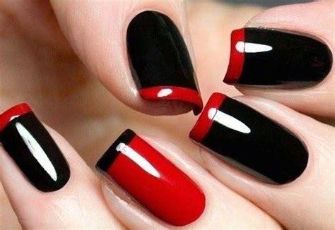 imagenes de unas pintadas en negro unas decoradas rojo modelos de u 241 as pinterest