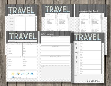 printable weekly vacation planner travel printable vacation planner yearly trip planner