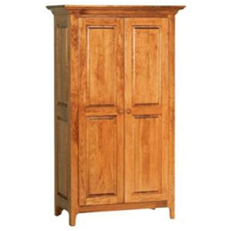 Large Armoire With Shelves Amish Heritage Shaker Door Armoire Wardrobe With