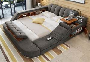 Bed With Desk And Storage The Ultimate Bed With Integrated Massage Chair Speakers