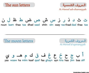 lettere sun sun moon letters arabic
