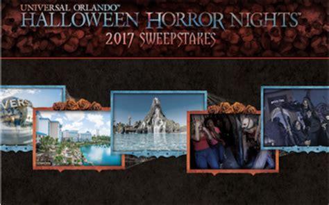 Universal Sweepstakes 2017 - universal orlando halloween horror nights 2017 sweepstakes sun sweeps