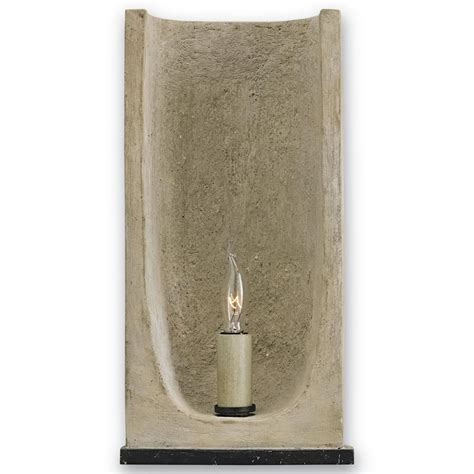Gregory Lighting by Gregory Industrial Loft Curved Concrete 1 Light Sconce