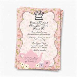 custom princess tea invitation by winebrennerdesigns on etsy