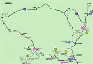 independence pass area colorado map and info