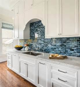 Blue Backsplash Kitchen Best 25 Blue Backsplash Ideas On Blue Glass