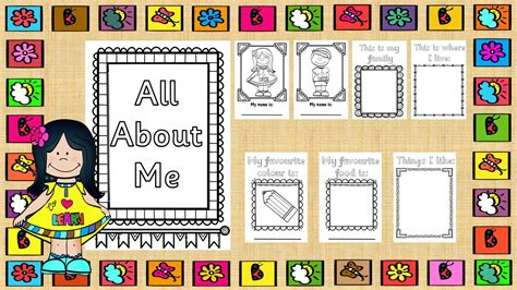 Me Me Me Me Me Me Me - 91 all about me printable book free about me printable