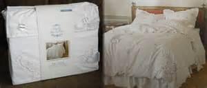 simply shabby chic rachel ashwell duvet snow white cutwork roses comforter cover ebay