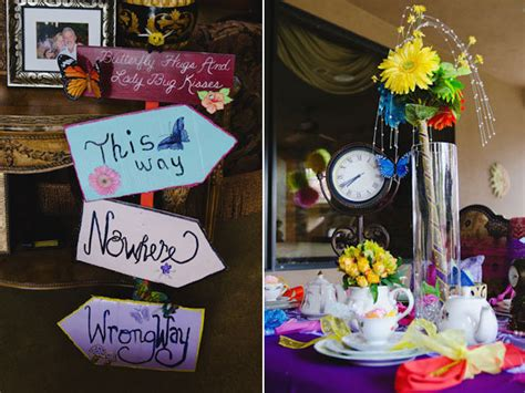 themed party alice in wonderland tea party themed bridal showers bridalguide