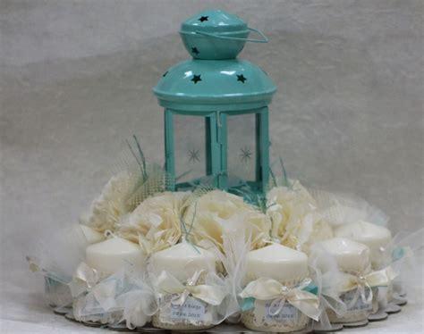 bomboniere con candele bomboniere composizione con lanterna centrale color