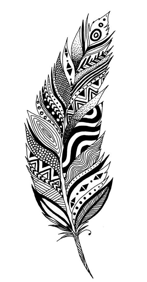 feather tattoo png black and white feather png google search cute pinterest