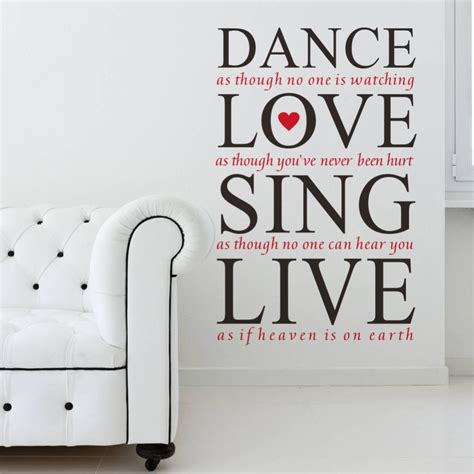 a lover sings selected 0571328598 23 36 dance love sing live quotes wall decals vinyl wall stickers bedroom wall decor sticker