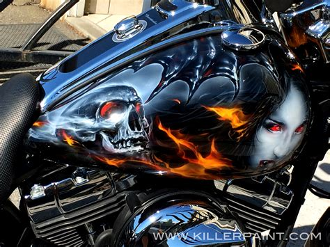 airbrushed motocross bike killer paint airbrush studio
