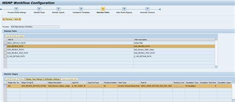 sap grc workflow configuration segregation of duties review sod review description and