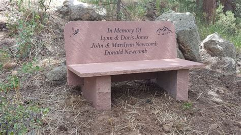 concrete memorial bench memorial bench with back bergen designs