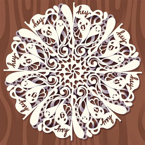 paper cutting craft tutorial how to create a digital doodled snowflake in adobe illustrator