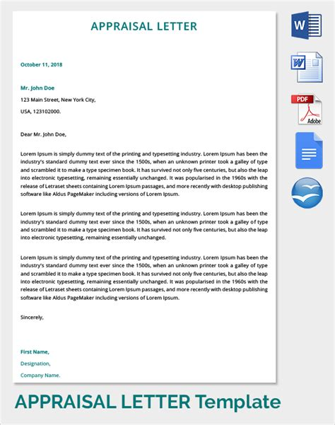 Appraisal Letter From Customer 9 Sle Letter Of Appraisals Sle Templates