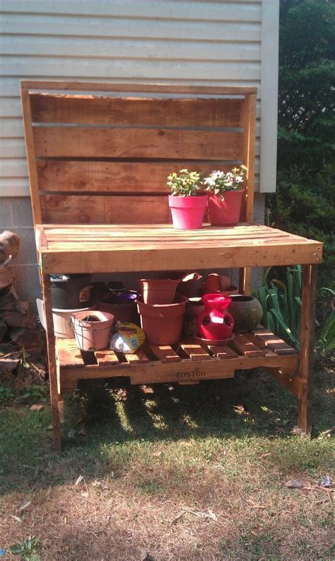 potting bench made from pallets potting bench made from pallets gardening and