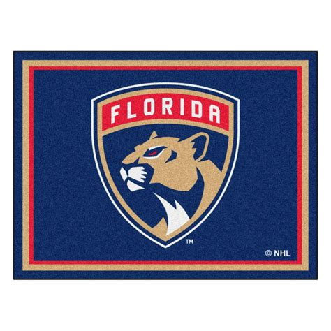 Window Treatments San Jose - fanmats nhl florida panthers navy blue 8 ft x 10 ft indoor area rug 17513 the home depot