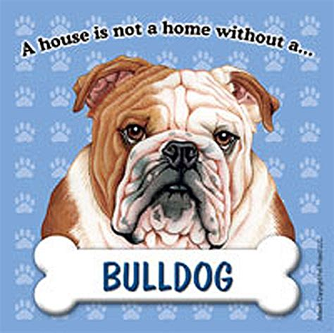 bulldog dog house bulldog dog magnet sign house is not a home ebay