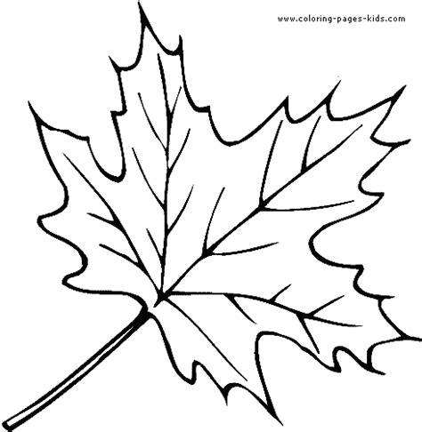 coloring book leaf leaf color page