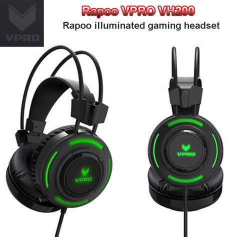 Vpro Vh200 Professional Rgb 3 5mm Audio Port Mic Gaming Headset rapoo vh200 professional rgb gaming headset w mic for 3
