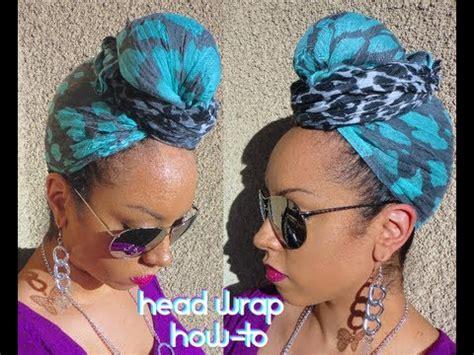 turban tutorial natural hair how to easy head wrap scarf turban style tutorial youtube