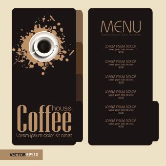 8 free great hot coffee shop menu design and layout