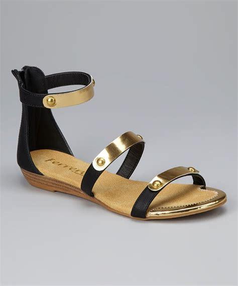 black and gold gladiator sandals henry ferrera black gold gladiator sandal black gold