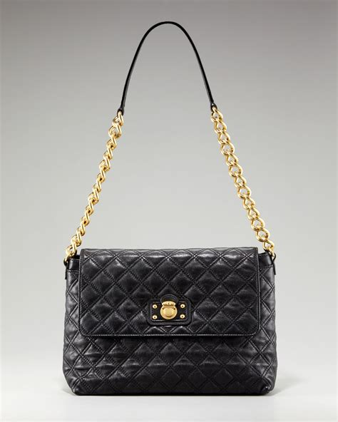 marc the xl quilted bag in black lyst