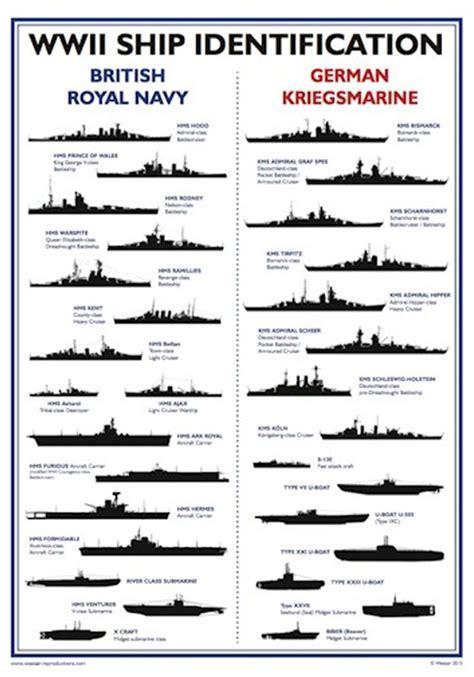 ship identification world war ii ship identification poster a3