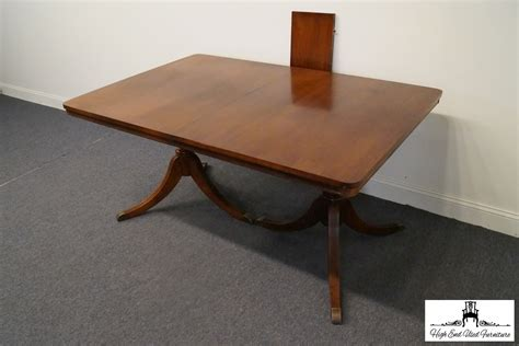 duncan phyfe double pedestal mahogany dining table high high end used furniture vintage duncan phyfe mahogany 70