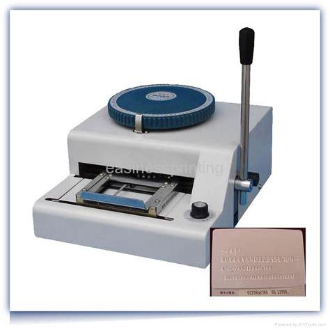 pvc card machine pvc card embossing machine yl 68c grandfon china