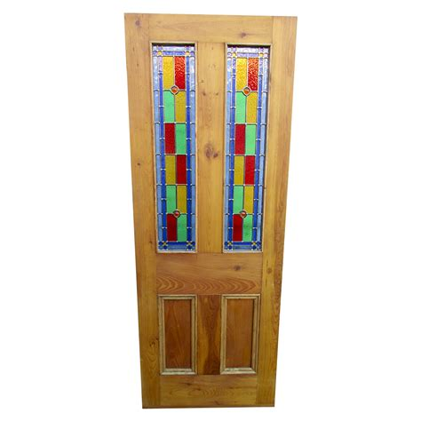 100 Doors Floor 36 by 4 Panel Bullseye Stained Glass Interior Door Period Home