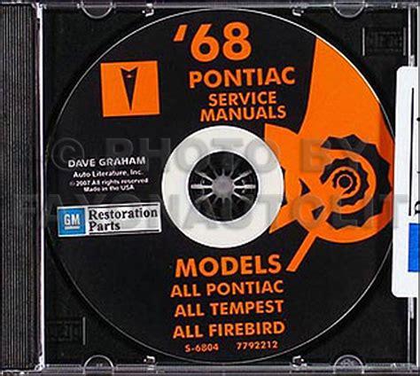 book repair manual 1967 pontiac tempest engine control 1968 pontiac shop and body manual cd gto lemans tempest firebird bonneville exec ebay