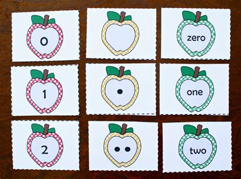 Free Apple Gift Card Number - free printable apple number cards and activities fantastic fun learning