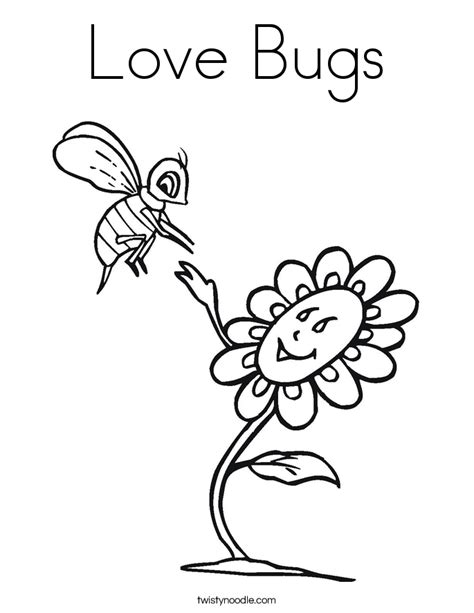 love bugs coloring page twisty noodle