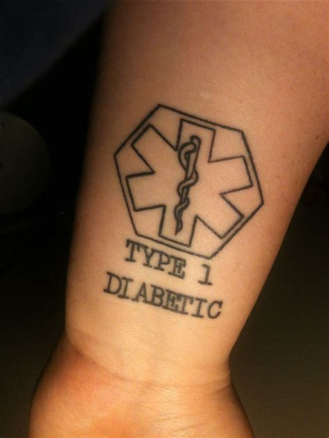 diabetic tattoos designs alert type 1 diabetic done by brian at