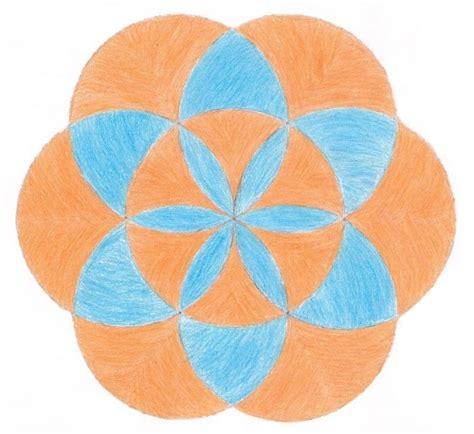 figuras geometricas hechas con compas un dise 241 o de siete c 237 rculos como una flor actividad de