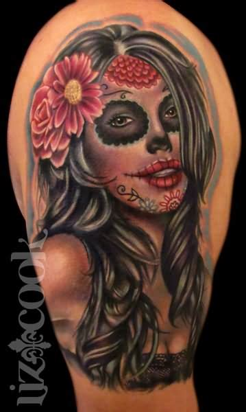 pin up tattoo designs images 35 dia de los muertos pinup tattoos
