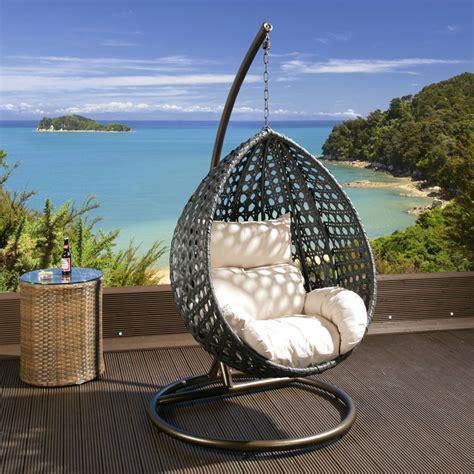 outdoor hanging chair luxury outdoor garden hanging chair black rattan cream