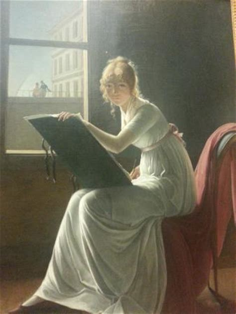 young woman drawing 1801 marie denise villers french paris 1774 1821 t 237 tulo da