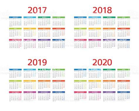 Calendã Brasileiro 2018 Calendar 2017 2018 2019 2020 Monday Sunday Stock Vector