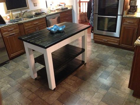Kitchen Island Legs Wood ana white rolling kitchen island diy projects