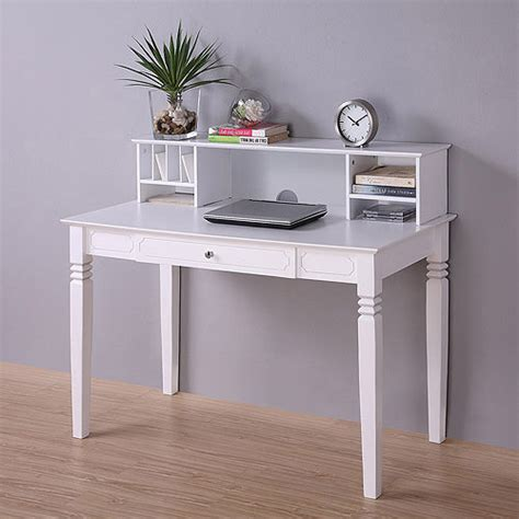 Elegant Wood Desk With Hutch White Walmart Com Walmart White Desk