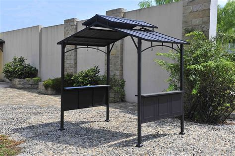 barbeque gazebo bbq pro steel hardtop grill gazebo limited availability