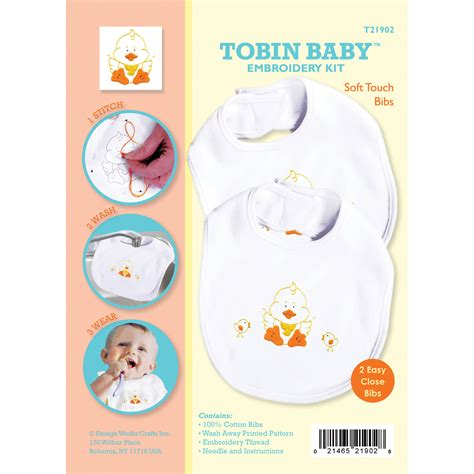 Bibs Set Duck duck soft touch bibs embroidery kit set of 2 tanga