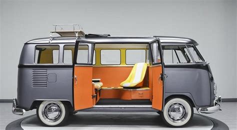 volkswagen camper   vintage van    future time machine