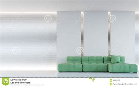 test pattern modern living modern white living room interior 3d rendering image stock