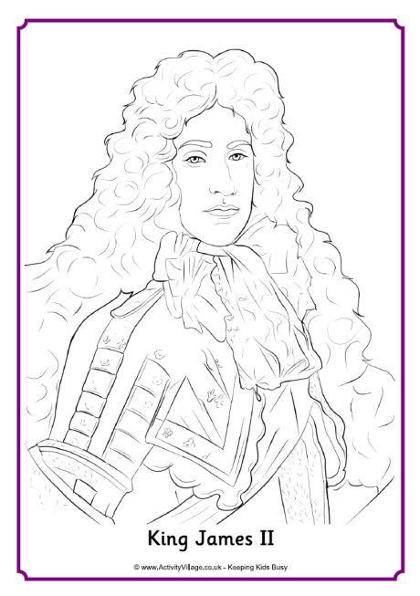 king james coloring pages king james ii colouring page